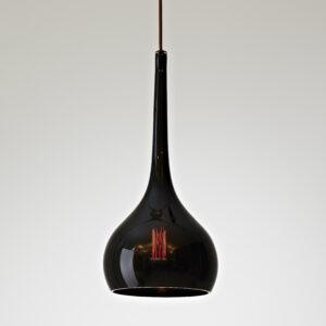 Hand blown glass pendant light